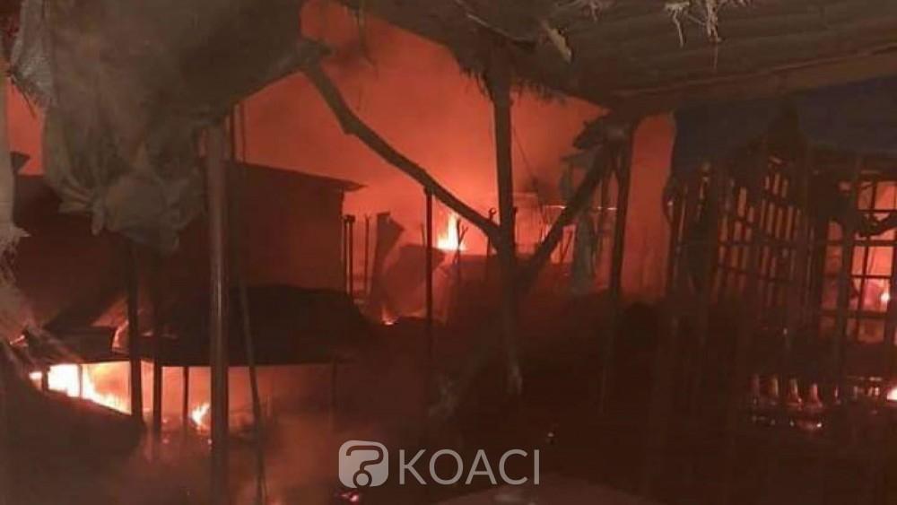 Burkina Faso : Un marché complètement ravagé par un incendie à Ouagadougou