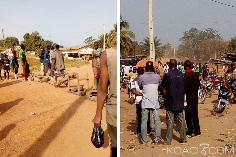 Côte d'Ivoire : Danané, traversant un corridor sans autorisation,  un conducteur de moto taxi molesté par les forces de l'ordre