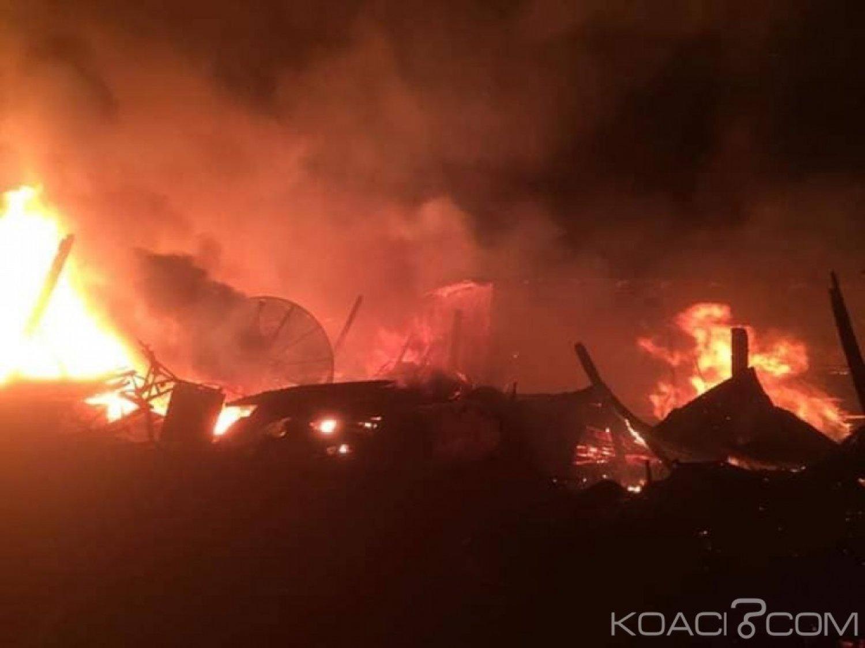 Côte d'Ivoire: Le marché de Man part en fumée, plusieurs dégà¢ts matériels