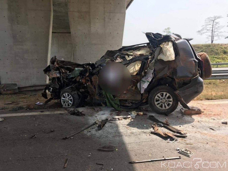 Côte d'Ivoire: Grave accident sur l'autoroute du nord Pk 155, 02 morts et 02 blessés graves