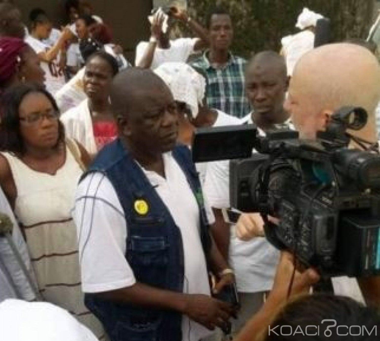 Côte d'Ivoire: À la veille du procès Gbagbo Blé Goudé, des victimes de la crise post électorale manifestent devant la CNHDCI
