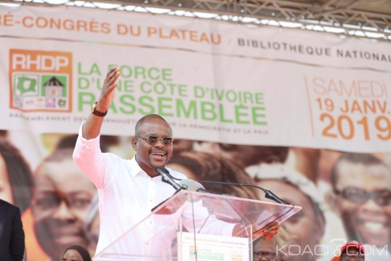 Côte d'Ivoire : Congrès du RHDP, retour de Sawegnon pour la mobilisation du Plateau