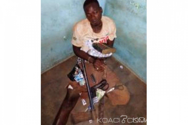 Côte d'Ivoire : Un démobilisé en possession d'un pistolet automatique, d'armes blanches et de drogue, mis aux arrêts