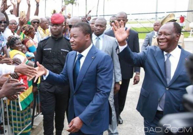 Côte d'Ivoire-Togo :  Faure Gnassingbé en visite d'amitié et de travail à Abidjan le 28 janvier