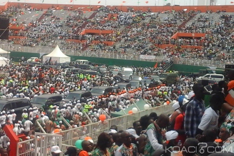 Côte d'Ivoire : 1er congrès du RHDP, une mobilisation exceptionnelle et une défection du public pendant le discours de Ouattara pour un soucis de transport?