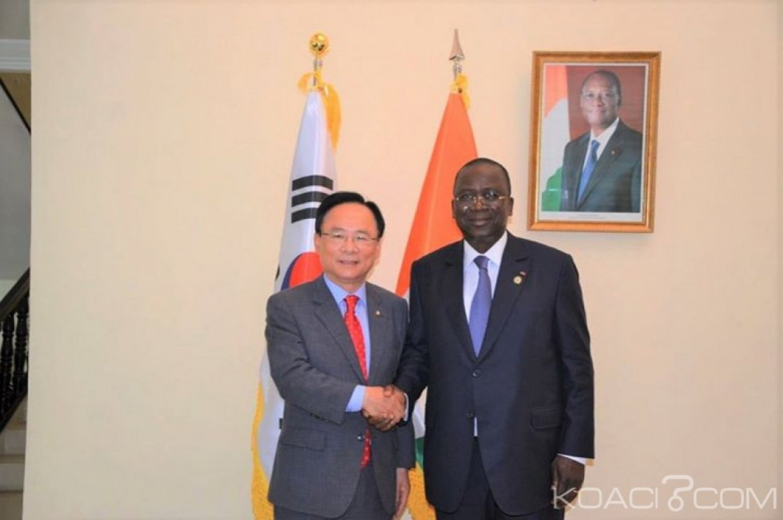 Côte d'Ivoire : Ahoussou en présence d'une délégation du parlement coréen «le bien-être des populations doit préoccuper les ivoiriens au lieu des débats politiques et les partis politiques»