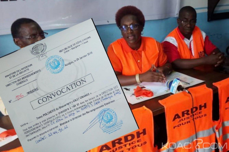 Côte d'Ivoire : Pulchérie Gbalet, initiatrice du mouvement «Gilet Orange» convoquée jeudi aux Renseignements Généraux