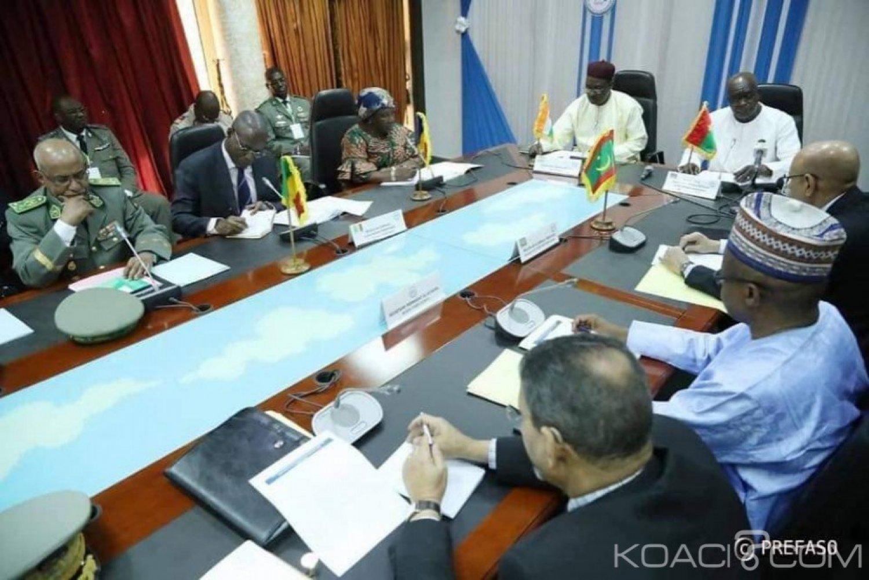 Burkina Faso : Les ministres de la défense du G5 sahel en concertation à Ouagadougou