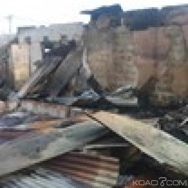 Côte d'Ivoire : Bouaflé, un incendie déclaré au quartier Commerce, important dégà¢t matériel mais pas de perte en vie humaine