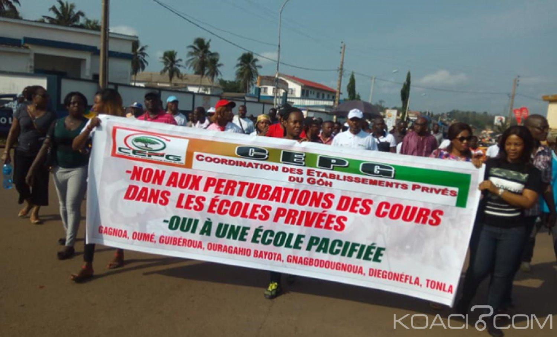 Côte d'Ivoire : Région du Gôh,  une marche de protestation des responsables du secteur éducatif privé contre les perturbations des cours dans le privé