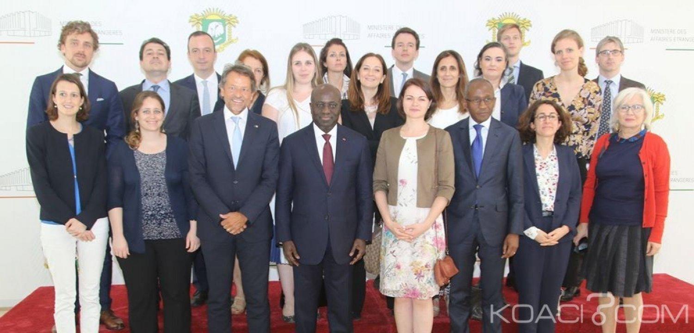 Côte d'Ivoire : Une délégation du Conseil de l'Union Européenne sur l'Afrique reçu par Marcel Amon Tanoh