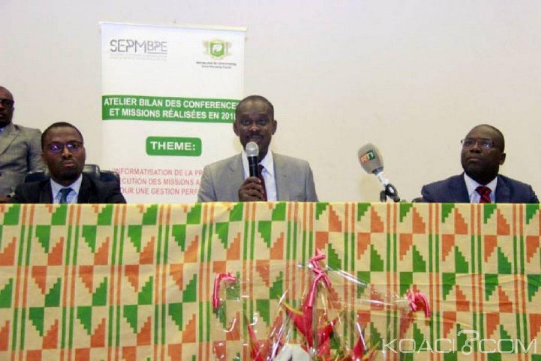 Côte d'Ivoire : Conférences et missions des ministères, 5,8 milliards de FCFA consentis  en 2018 contre 5,7 milliards de FCFA en 2017
