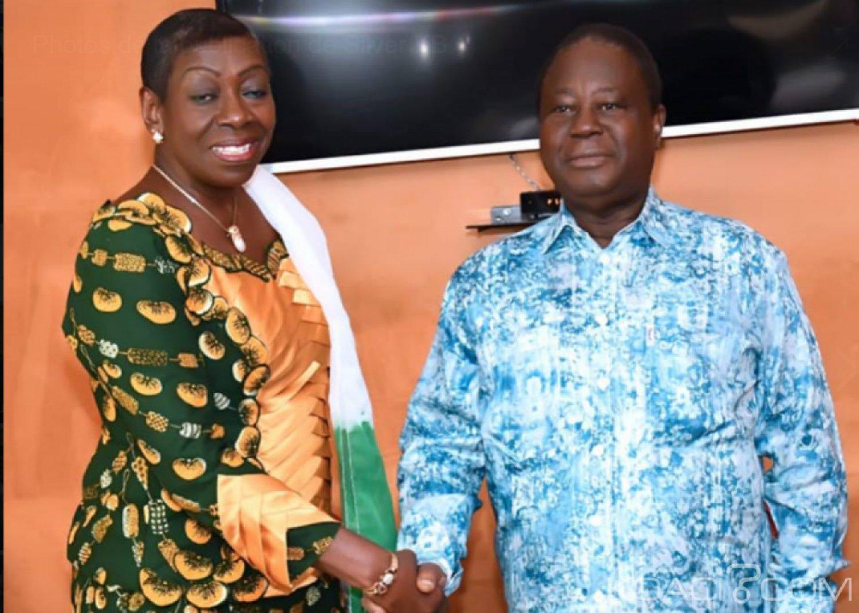 Côte d'Ivoire : Situation sociopolitique, l'ex patronne des femmes patriotes Bro Grébé prend conseil auprès de Bédié  à Daoukro
