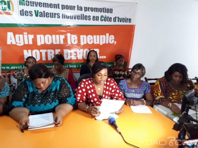 Côte d'Ivoire : Les femmes du MVCI inquiètes de la situation et de l'image que renvoie le pays