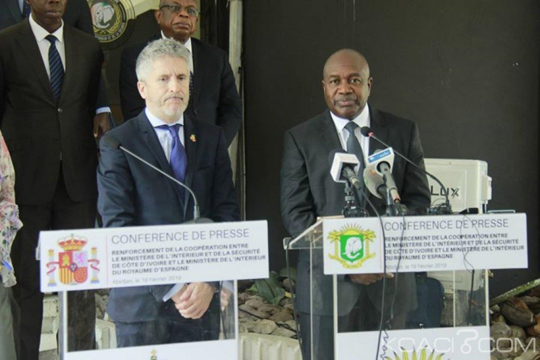Côte d'Ivoire : Abidjan, l'Espagne veut apporter son expertise dans le domaine de la lutte contre l'immigration clandestine et annonce du matériel de maintien d'ordre et de sécurité