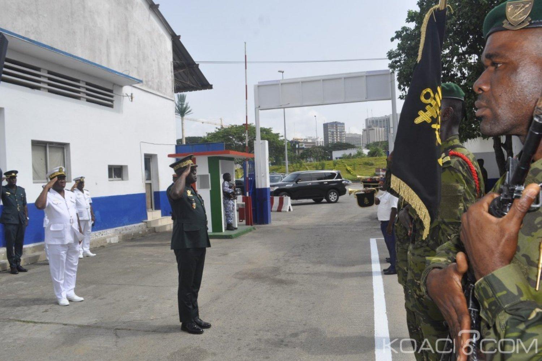 Côte d'Ivoire : En visite à la Marine, le Gnl Doumbia déclare être en faveur de la nomination d'un médiateur aux armées