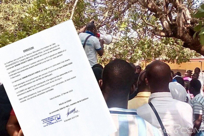 Côte d'Ivoire : Annonce de mort d'un des leurs, la COSEFCI présente des excuses publiques à KOACI