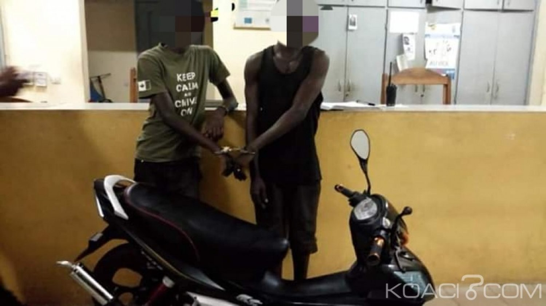 Côte d'Ivoire: En possession d'une moto volée, 02 individus arrêtés à Adjamé