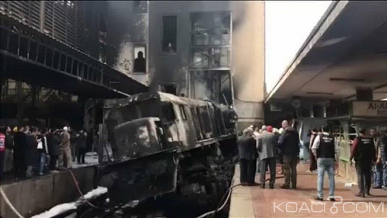 Egypte :  Un accident de train suivi d'un incendie  fait au moins 20 morts et 40 blessés