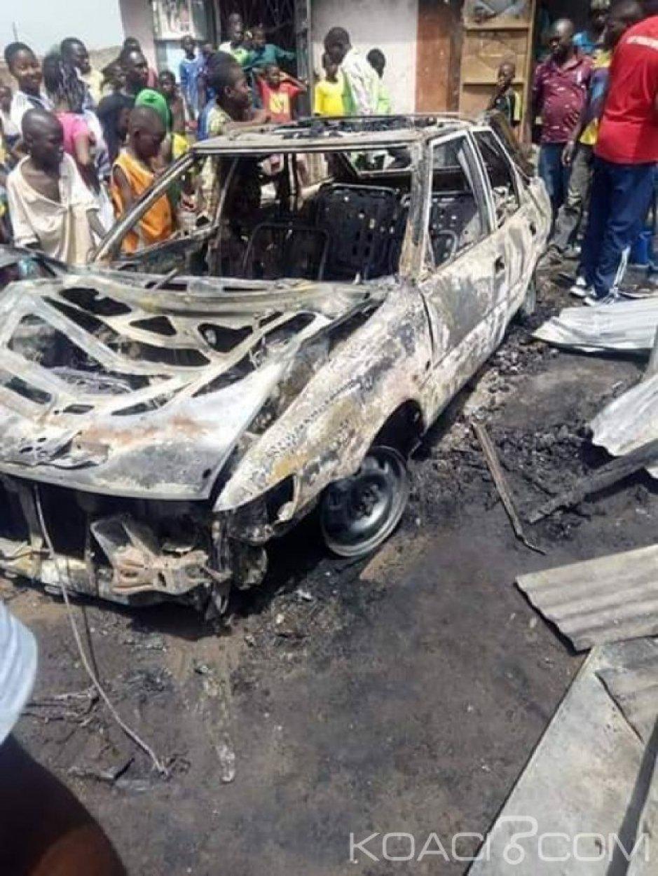 Côte d'Ivoire : Soubré, lors de la charge de sa bonbonne,   un taxi à gaz prend feu, fait des victimes