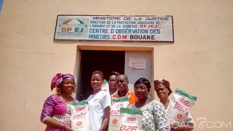 Côte d'Ivoire : À Bouaké, une trentaine de mineurs incarcérés, bénéficient des dons d'une ONG