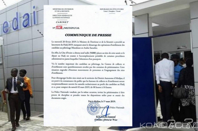 Côte d'Ivoire: Hadj 2019, Kouyaté réserve les samedis uniquement pour l'enrôlement des pétitionnaires