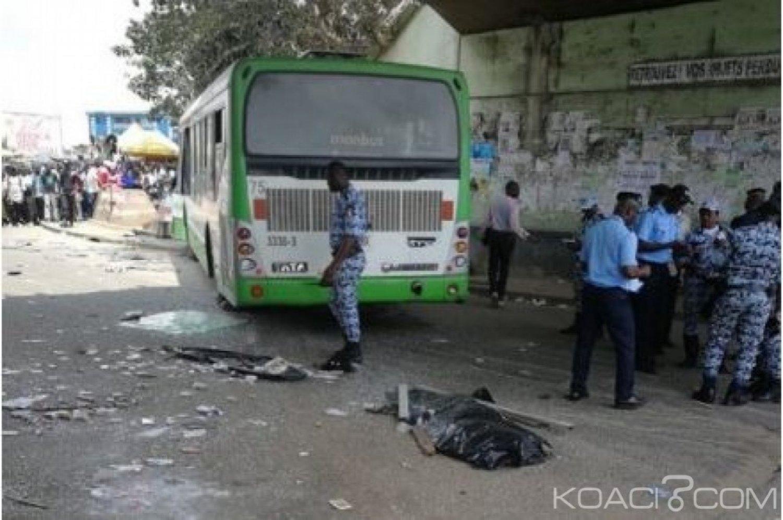 Côte d'Ivoire : Drame à Adjamé, un bus écrase 4 vendeurs ambulants, 2 morts et 17 blessés
