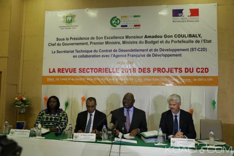 Côte d'Ivoire : Revue sectorielle de 2018 du C2D, 27 conventions d'affectations signées pour un montant total de 1138,3 milliards de FCFA