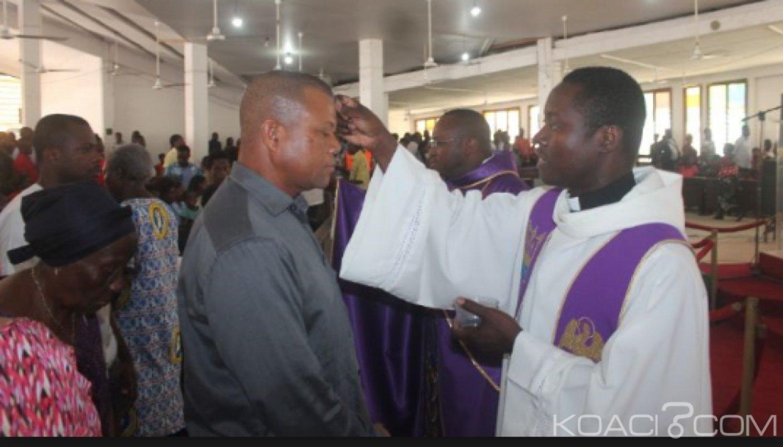 Côte d'Ivoire : Religion, début ce mercredi du carême des chrétiens Catholiques  avec la prise des cendres