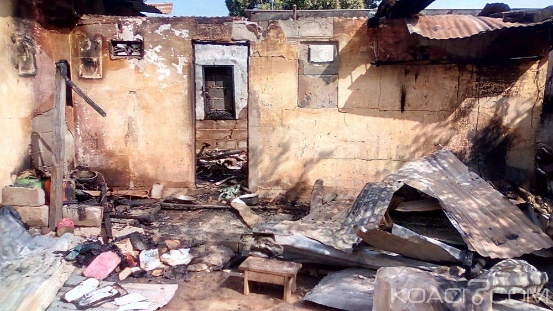 Côte d'Ivoire : Bouaké, suite à une surtension électrique, deux compteurs prennent feu et incendient une maison