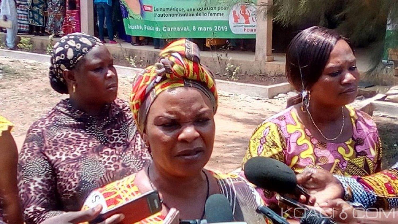 Côte d'Ivoire : Bouaké, en vue d'être en phase avec les TIC,   Irié Lou Colette plaide pour une aide en faveur des femmes du secteur vivrier