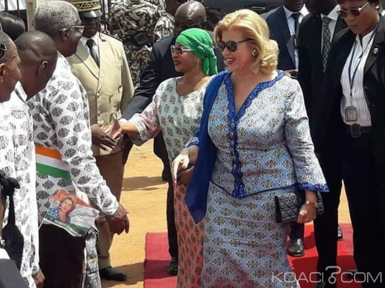 Côte d'Ivoire : Henriette Bédié et Dominique Ouattara main dans la main à Bouaké pour la célébration de la Journée de la femme