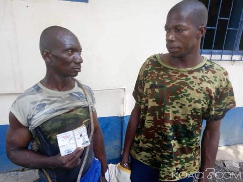 Côte d'Ivoire : A Adjamé, fin de cavale pour deux faux militaires spécialisés dans l'extorsion de fonds aux usagers