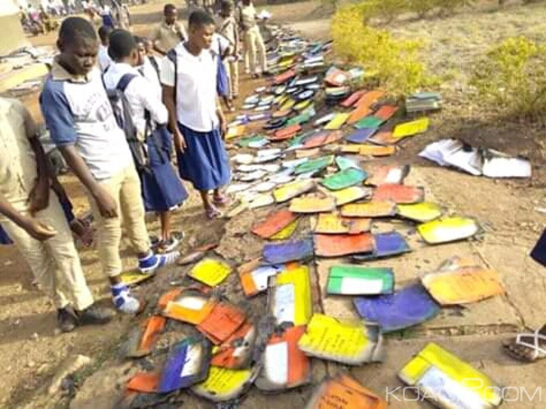 Côte d'Ivoire : Un bà¢timent d'un établissement de Katiola, ravagé par un incendie