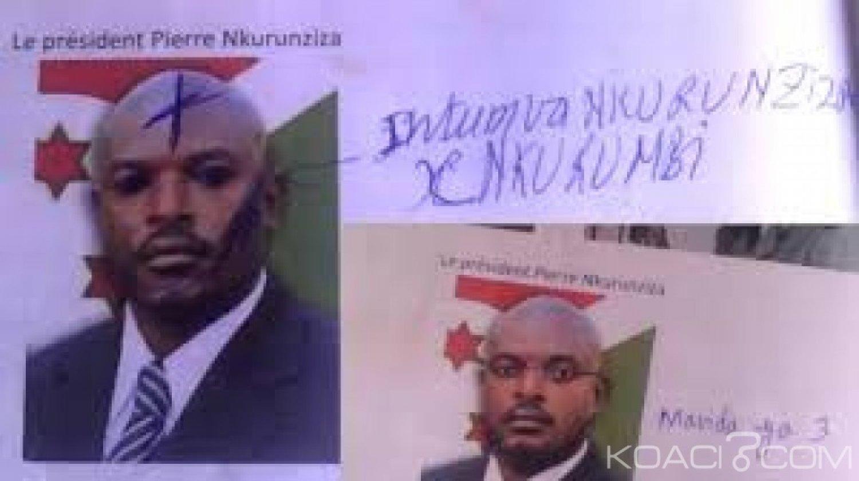 Burundi  : Six  lycéennes arrêtées pour avoir gribouillé la photo du Président Nkurunziza