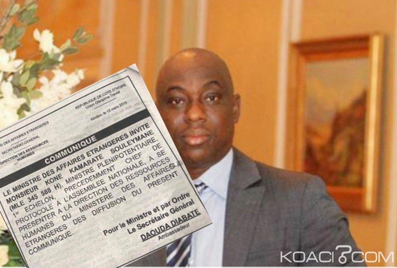 Côte d'Ivoire : Après la dissolution du cabinet de Soro, Soul To Soul invité à se présenter à la DRH du Ministère des Affaires Etrangères