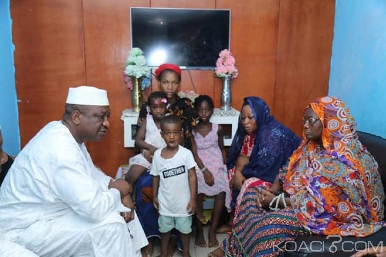 Côte d'Ivoire : Décès tragique du commissaire Doumbia dans un accident de circulation, Hamed Bakayoko au domicile du défunt