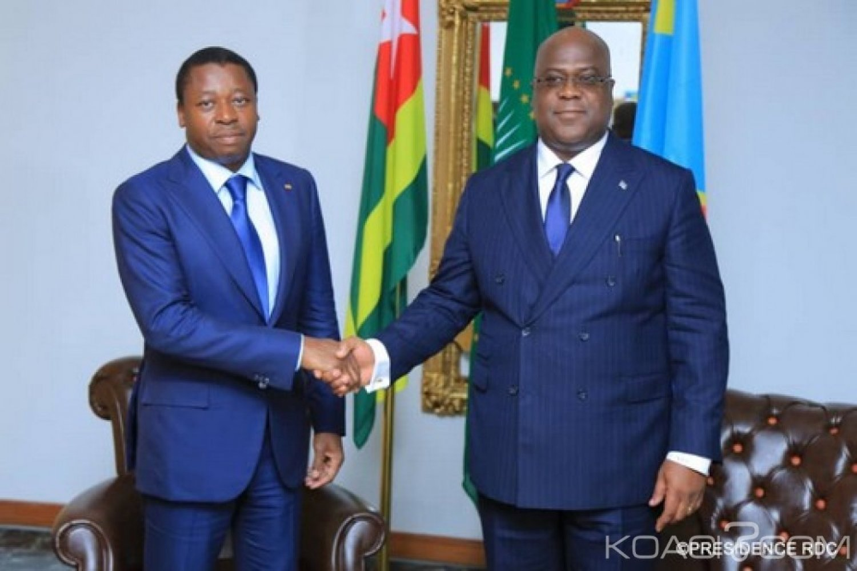 Togo-RDC : Raisons de la visite de Gnassingbé chez Tshisekedi