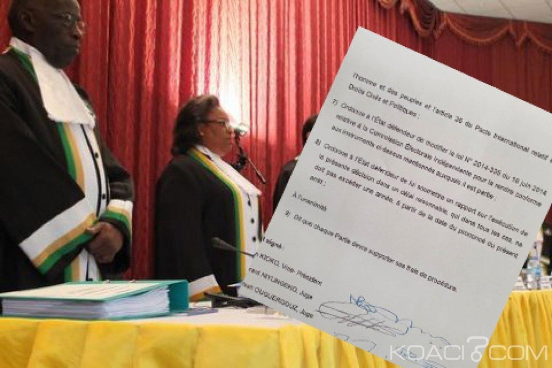 Côte d'Ivoire : CEI, la cour africaine des droits de l'homme tente de clore le débat avec l'article 7