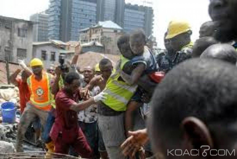 Nigeria: Le bilan de l'effondrement d'un immeuble à Lagos monte à 20 morts