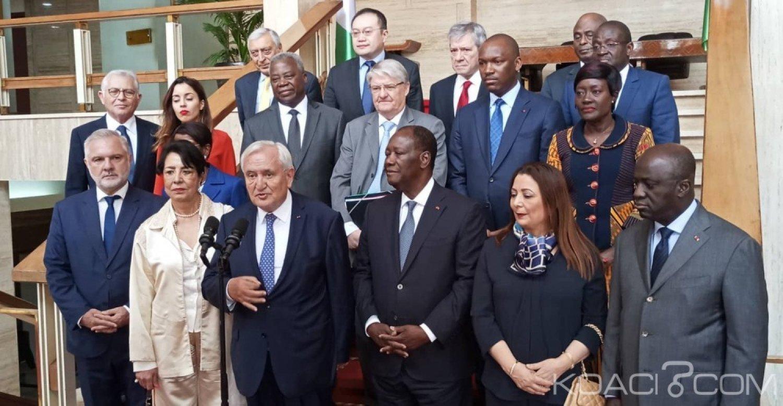 Côte d'Ivoire-France : «Leader pour la Paix », Raffarin et Ouattara ont parlé de paix à Abidjan