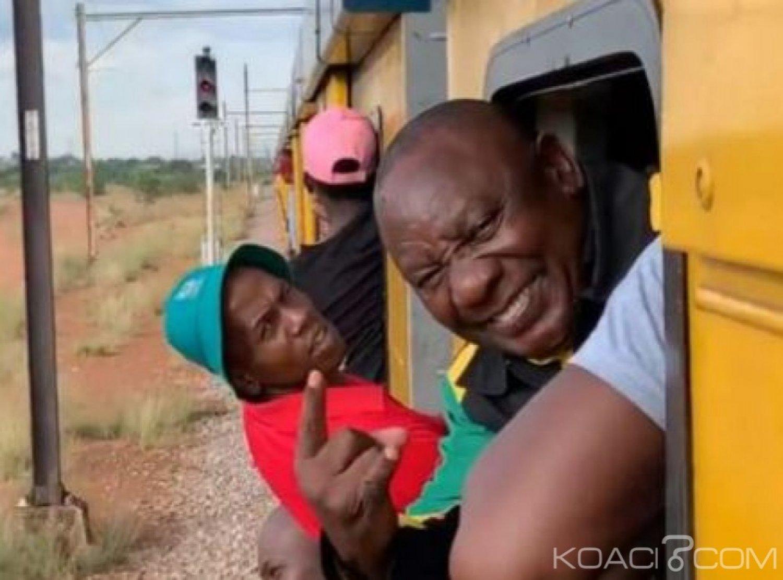 Afrique du Sud  : En campagne, Cyril Ramaphosa bloqué dans un train pendant 4h