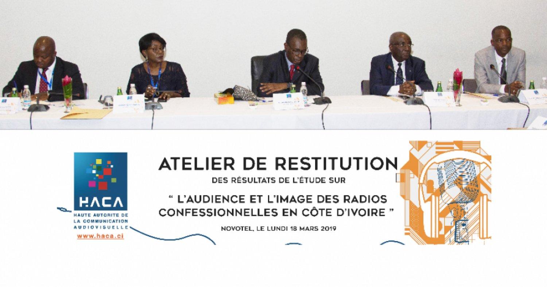 Côte d'Ivoire : Restitution de  l'étude sur  l'audience et l'image des radios confessionnelles, Sy Savané, « les résultats présentés ne sont ni un classement »