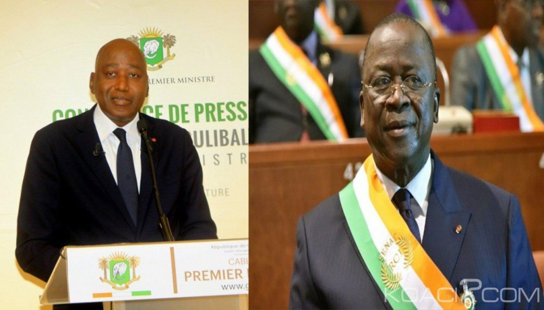 Côte d'Ivoire :  Sénat, le Premier ministre annonce qu'il n'a pas appris le départ de Ahoussou Jeannot de la présidence et précise que ce dernier a pris part à la création du RHDP