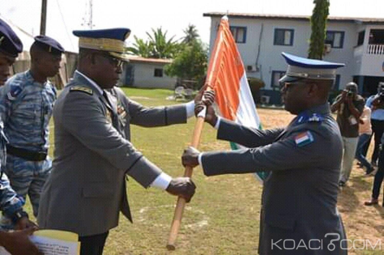 Côte d'Ivoire : À San-Pédro, le nouveau chef de corps de la 5ème légion de gendarmerie présenté