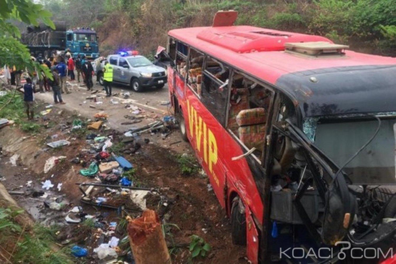 Ghana : Accident frontal entre deux bus près de Kintampo, plusieurs blessés et morts