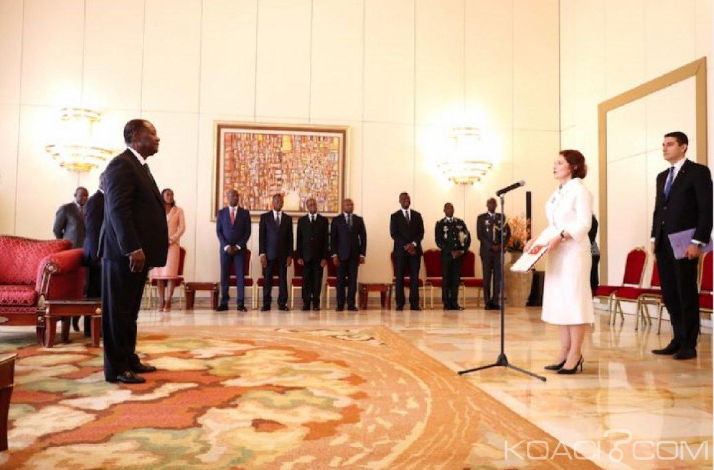 Côte d'Ivoire : Cinq nouveaux Ambassadeurs accrédités dans le pays ont présenté leurs  lettres de créance à Ouattara