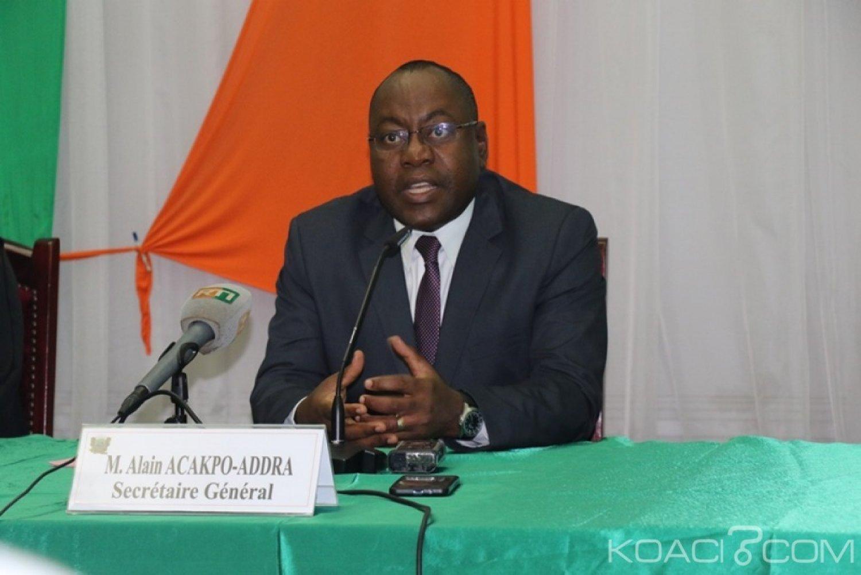 Côte d'Ivoire : Parlement, la session ordinaire de l'année 2019 prévue  lundi est conforme à la constitution de novembre 2016, souligne  le SG