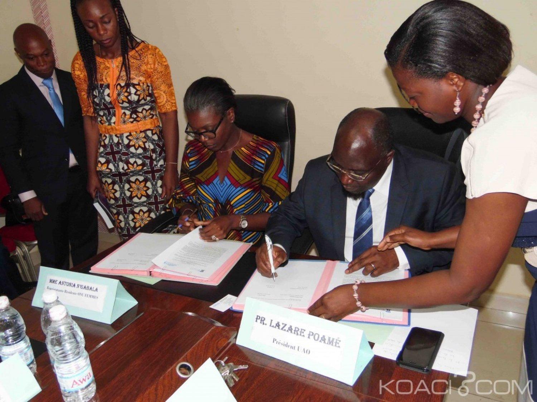 Côte d'Ivoire:  Université Alassane Ouattara l'UAO et ONU FEMMES signent un partenariat