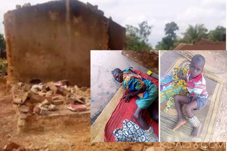 Côte d'Ivoire : Dans un village de la région du Iffou, une maison s'écroule sur trois enfants